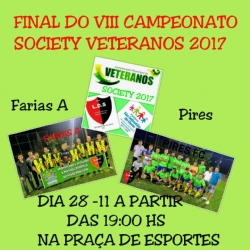 Final do VIII Campeonato Society de Veterano